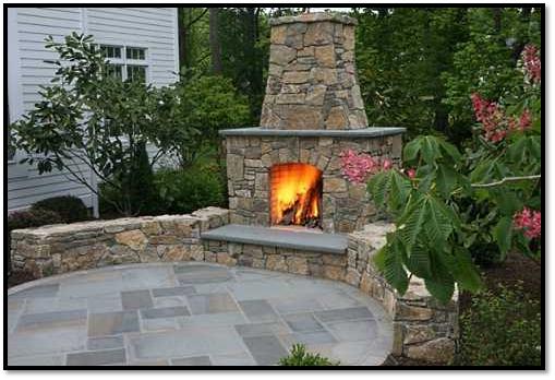 Hardscape Design & Construction Outdoor Patio Fireplace