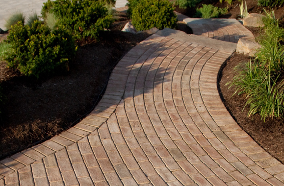 Brick Walkway With Landscaping Northern VA Reston