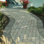 Paver Walkway With Brick Border Northern VA Great Falls