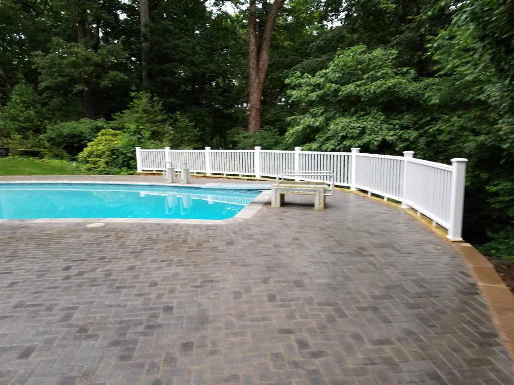 Pavers Brick Pool Deck Example Great Falls