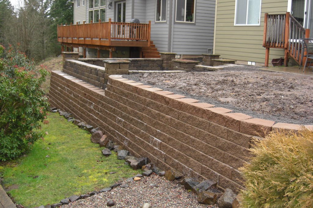 Stone and Brick Retaining Walls