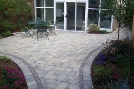 Nice Brick Patio into Walkway