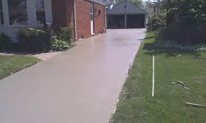 Newly Layed Concrete Driveway