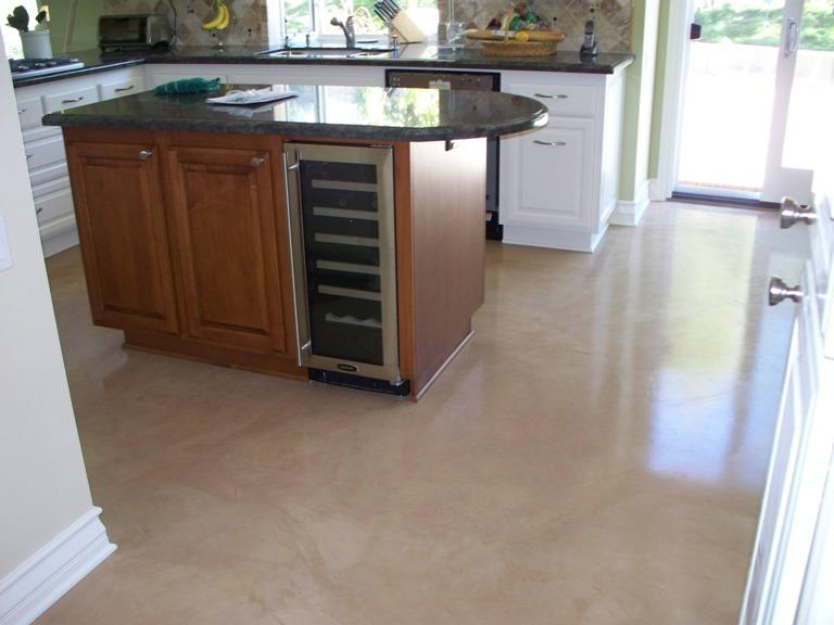 Polished Concrete Floor in Kitchen
