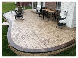 Beautiful Concrete Patio Design Work