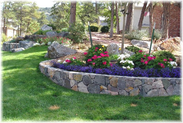 Perfect Garden Retaining Wall