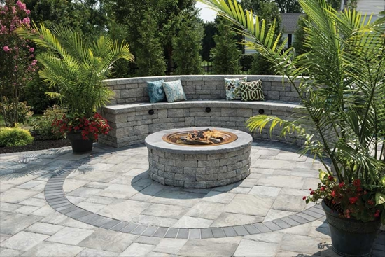 Cozy Fireplace Stone Patio