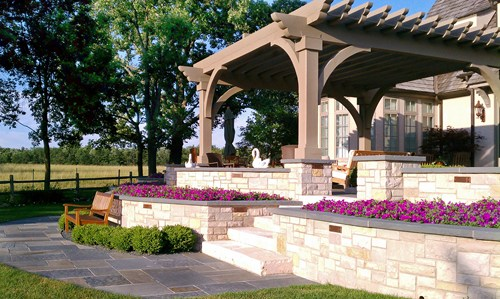 Retaining Wall Porch and Garden Patio