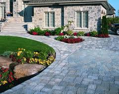 Beautiful Stone Driveway into Walkway