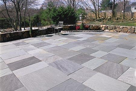 Beautiful Backyard Flagstone Patio In Oakton, VA