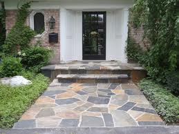 Nice Stone Work on Walkway and Front Porch Steps