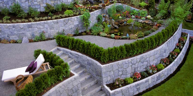 Multi Tiered Backyard : Crescent DC  Amazing MultiTiered Garden Retaining Wall